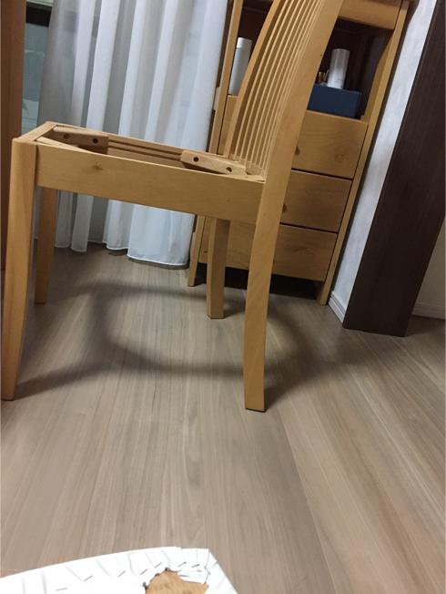 食卓の椅子をdiy